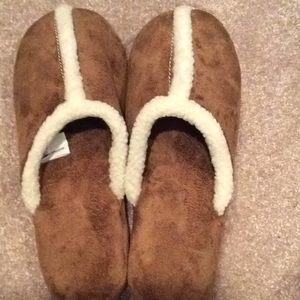 Slippers, brown, 8-10 size, large